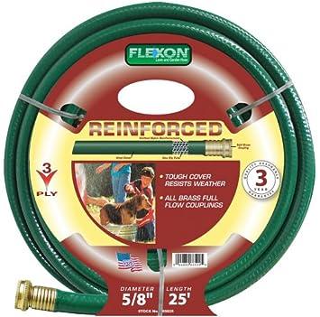 Amazoncom Flexon 58 Inch by 25 Foot Reinforced Garden Hose