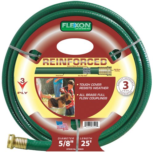 Light Duty Garden Hose (Flexon 5/8-Inch by 25-Foot Reinforced Garden Hose FR5825)