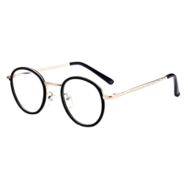 805960c0025 Haodasi Women Men Unisex Vintage Round Frame Anti-UV Coating Goggles Short  Distance Nearsighted Myopia