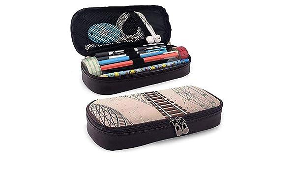 Estuche de cuero Roller? Coaster Coaster Bolso para bolígrafo Bolígrafo Bolso para lapicero Bolso: Amazon.es: Oficina y papelería