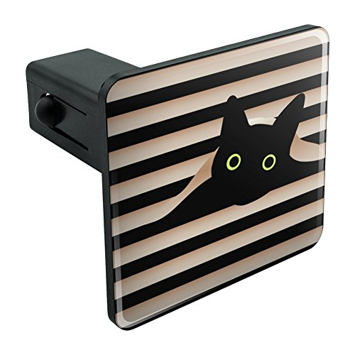 Graphics and More Black Cat In Window Tow Trailer Hitch Cover Plug Insert 1 1/4 inch (1.25