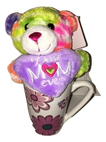 Mother's Day Gift Basket Bundle For Mom Set Plush Rainbow Bear and Keepsake Mug