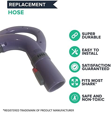 Vacuums - NV351 Healthier Air NV35 for Vac Think Crucial Vacuum Hose Parts Replacement Compatible with Shark Hose Handle Part 113FFJ Light 1 Pack Purified Durable Hose Fits Models NV350