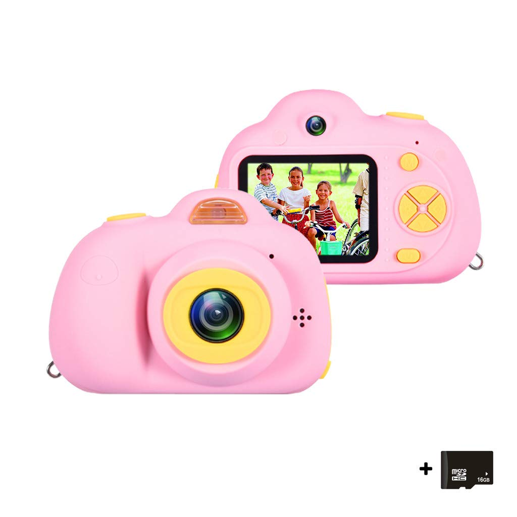 Kids Digital Video Camera for Boys Age 3-8 , Mini Rechargeable Children Camera Shockproof Toddler Cameras Child Camcorder (16GB Memory Card Included) (Pink, 2 inches) by COOgjoei (Image #2)