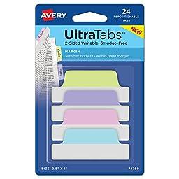 Avery Margin Ultra Tabs, 2.5\