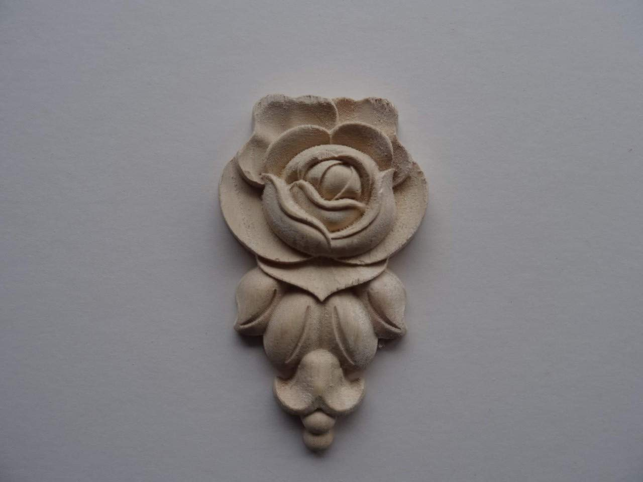 Dekorativer Holz Rose Drop Applikation Shabby Chic Möbel Zierleiste WK6