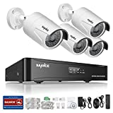 Cheap Sannce 960P POE NVR Network Security System and (4) 1.3Mega-Pixels Weatherproof Bullet Cameras, NO HDD