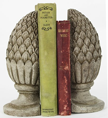 Fleur de Lis Garden Ornaments LLC Artichoke Home Decor Bookends Pair Book Holders from Fleur de Lis Garden Ornaments LLC