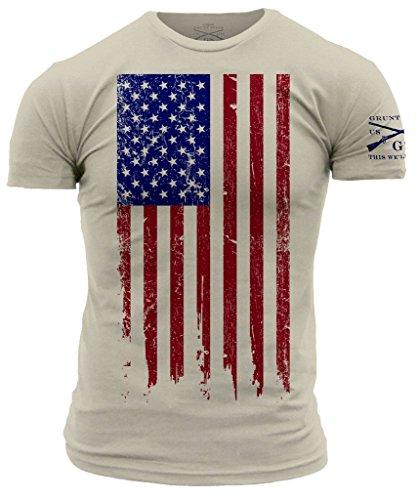 Grunt Style Men's America T-Shirt (X-Large, Full Color - -