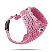 Curli Basic Harness Air-Mesh Dog Harness Pet Vest Adjustable Step-in Light Harness Pink S