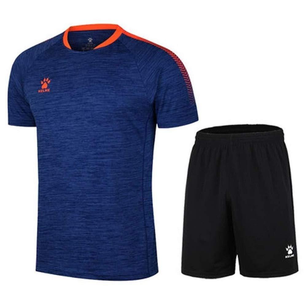 Dewf Shorts Trikot Uniformen Fußballbekleidung Sportanzug Herren Laufbekleidung Kurzarm (Farbe: A, Größe: XL)