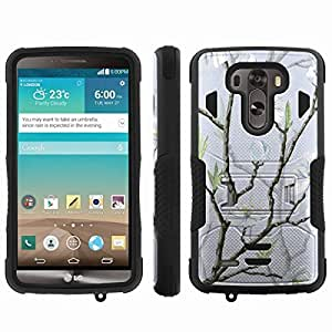 [ArmorXtreme] Hybrid Rugged Armor Design Image Protect Case With Kickstand (White Flower Tree) for LG G3