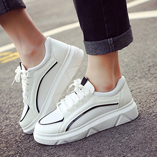 CYBLING Womens Casual Thick Soles Sneakers Fashion Running Trainers Sneakers Black NQAYt