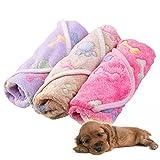 ZHUOTOP Waterproof Stain Resistant Pet Dog Puppy Paw Print Pattern Blanket Mat 60*40cm & Khaki