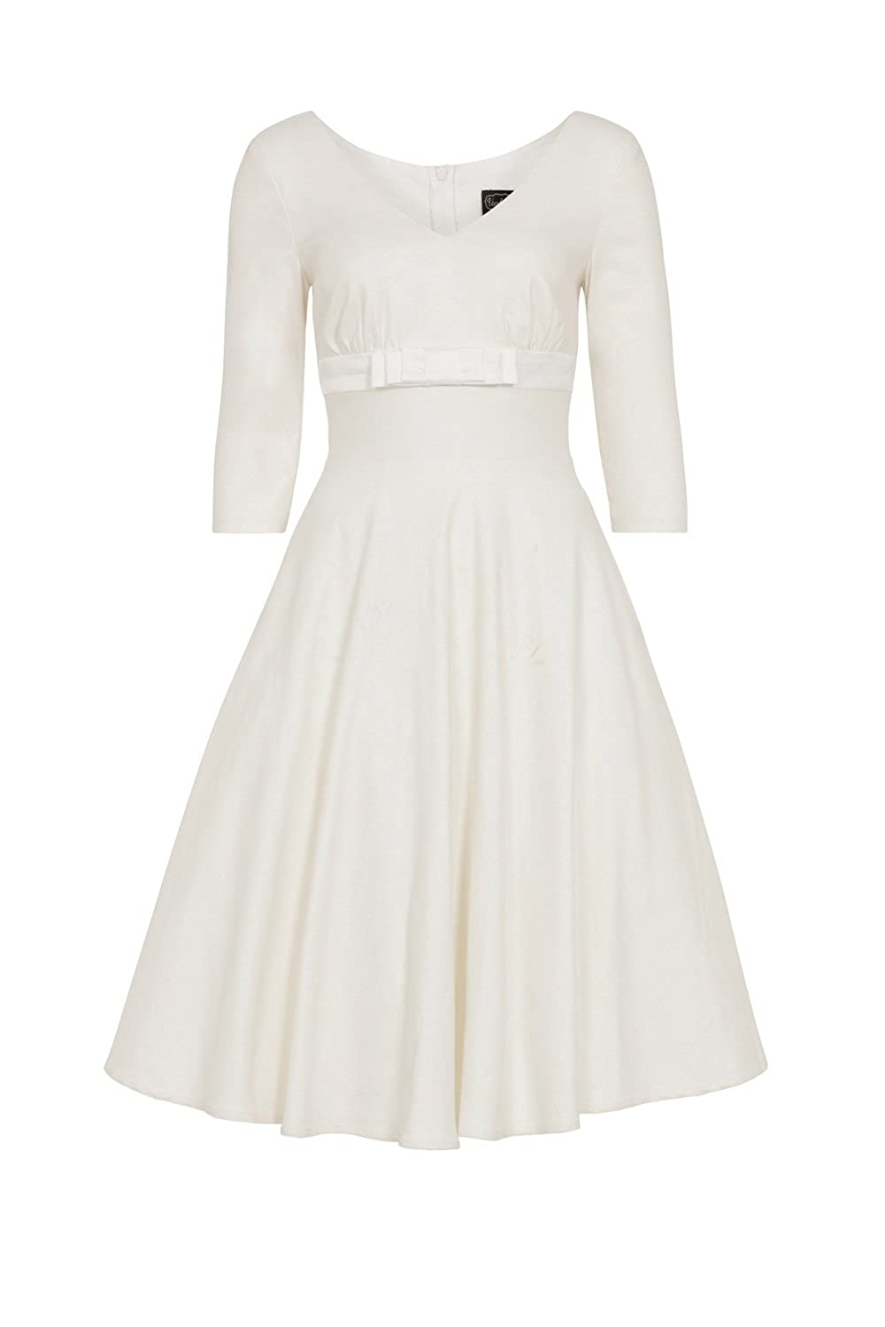 50s Wedding Dress, 1950s Style Wedding Dresses, Rockabilly Weddings Voodoo Vixen Dorothy Bridal Plus Size Dress £62.50 AT vintagedancer.com