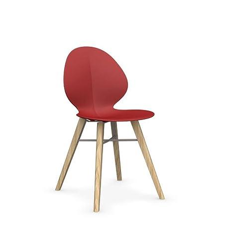 Calligaris Basil W sedia design in legno massello rovere naturale ...
