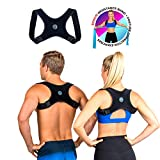 Posture Corrector for Men and Women- FDA Approved Fully Adjustable and Lightweight Back Brace for Neck, Shoulder & Back Pain Relief- Best Slouching Corrector for Improved Posture (One Size) Blue Zone Body