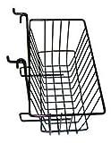Slatwall Gridwall Basket 12'' Long x 6'' Deep x 6'' High Black
