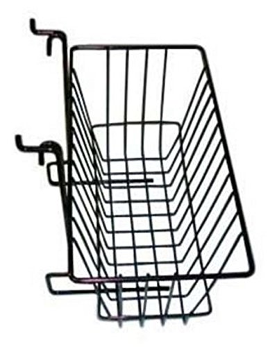 "Slatwall Gridwall Basket 12"" Long x 6"" Deep x 6"" High Black"