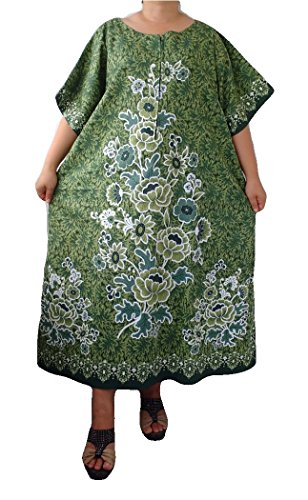 trendyloosefit-womens-plus-size-loose-fit-dress-cotton-floral-bust-54-yellow-green