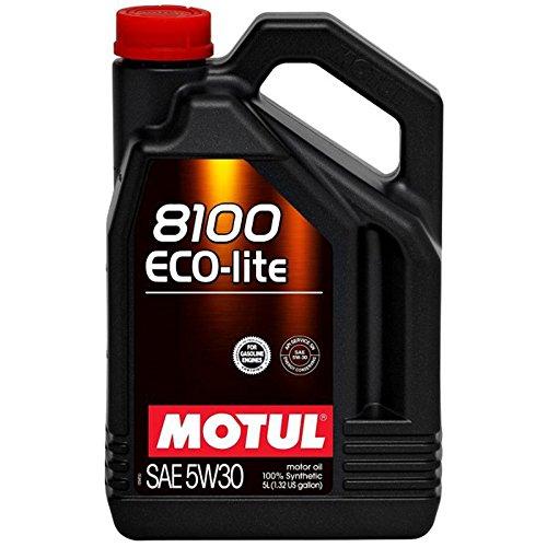 Motul 107252 8100 Eco-lite 5W-30 Synthetic Motor Oil, 5 Liter, 128. - Oil Integra 1986 Acura