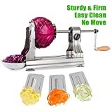 WellToBe CS-668 Tri-Blade Stainless Steel Spiral Vegetable Slicer - Best Reviews Guide