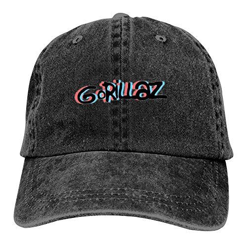 Unisex G-orillaz Virtual Band Music Videos Rock Hip Hop Logo Hip Hop Baseball Cap Adjustable Cowboy Hat Black