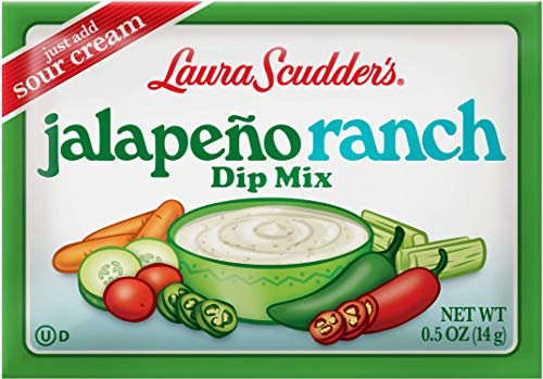 Laura Scudder's Jalepeno Ranch Dry Dip Mix, Great For Vegetables, Chips, Sauces and Seasoning (12)