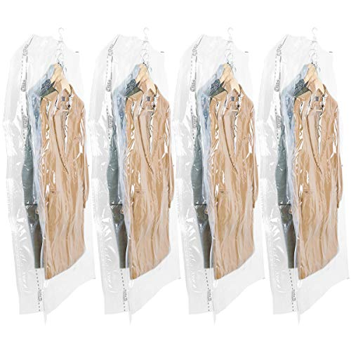 - TAILI Hanging Vacuum Wide-Side Space Saver Bags, Set of 4 Long Size (53