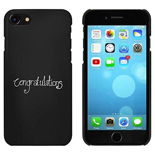 Noir 'Félicitations à Vous' étui / housse pour iPhone 7 (MC00071353)