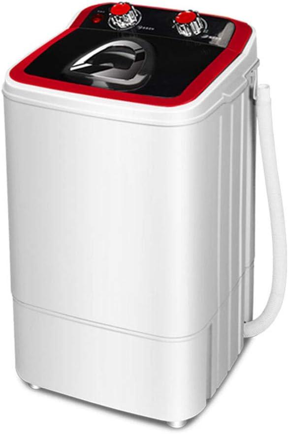 FDY Mini Lavadora Barril Individual Semiautomático Portátil con Cesta De Drenaje (4.6 kg Lavado +3 kg Deshidratación) por Apartamentos, Cámping, Dormitorio