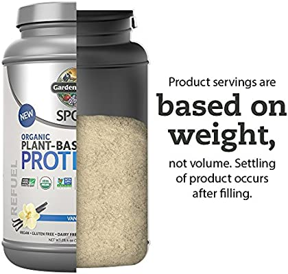 Garden Of Life Sport Organic Plant-Based Protein - BCAA Amino Acid Protein Powder, Vanilla 28.4oz (1lb 12oz / 806g) Powder