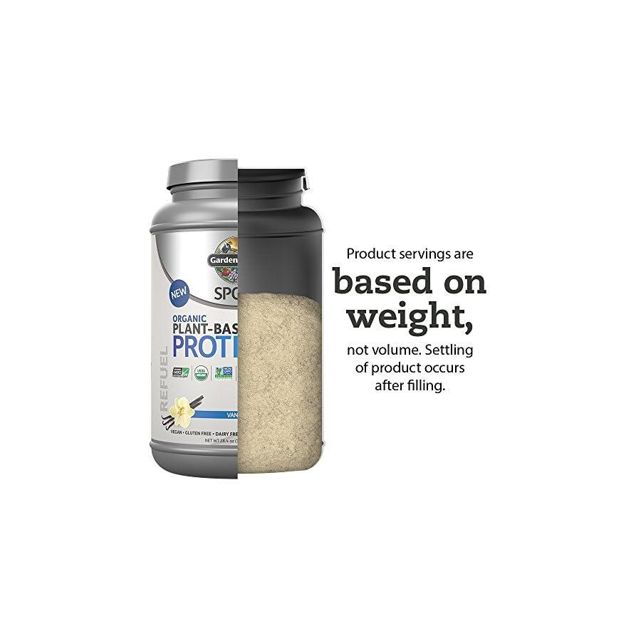 Garden of Life Sport Organic Plant Based Protein BCAA Amino Acid Protein Powder, Vanilla 28.4oz (1lb 12oz / 806g) Powder