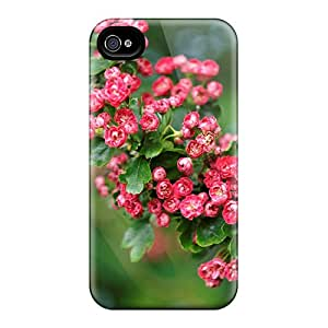 Ultra Slim Fit Hard Lucklystar Case Cover Specially Made For Iphone 4/4s- Flowering Trees