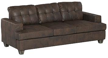 Amazon.com: Acme Muebles 15060 Diamond Brown Sofá de piel ...