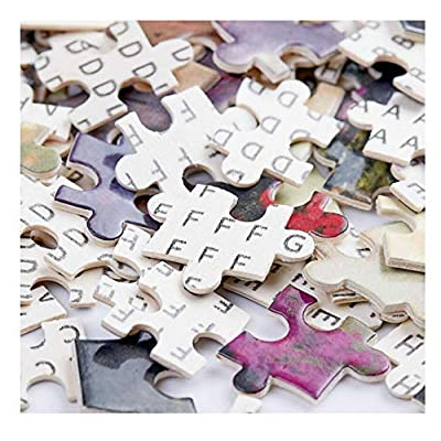 Puzzle Wooden Adult Children 1000 Pieces of Educational Toys Decompression Puzzle cat Playing Poker 50 75cm: Toys & Games