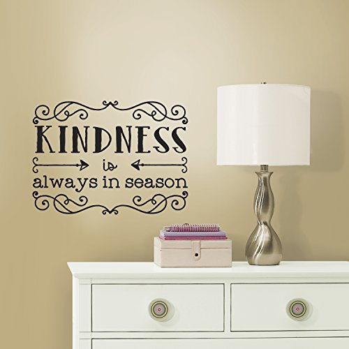 RoomMates RMK3048SCS Kindness Quote Peel & Stick Wall Decals, 19.3