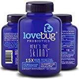 LoveBug Probiotics Here's the Skinny, 30 Day Supply of Tablets - 15x More Effective than Probiotic Capsules with Patented Delivery Technology - Probiotic Supplement for Digestive Health