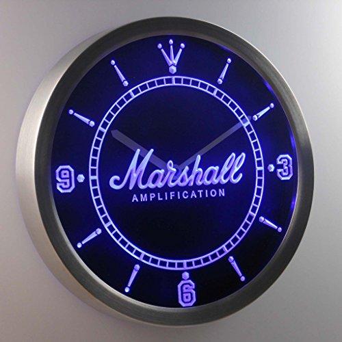 Marshall Guitars Bass Amplifier 3D Neon Sign LED Wall Clock NC0437-B
