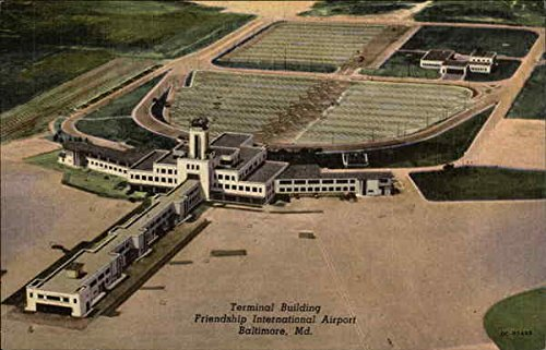 Friendship International Airport - Terminal Building Baltimore, Maryland Original Vintage - Baltimore In Airport Maryland