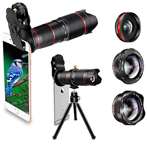 est Keiyi 15X iPhone Camera Telephoto Lens kit Double Regulation Lens Attachment with Tripod and Universal Clip Compatible with iPhone X/XS/XS Max/XR/8/7 Plus Samsung Android Phone ()
