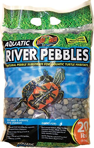Zoo Med Laboratories Aquatic River Pebbles for Aquatic Turtle Habitats, 20 lb