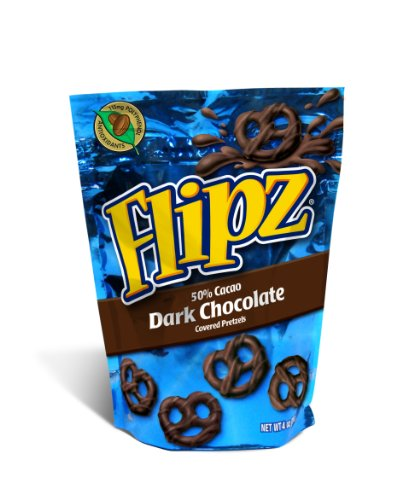 - Flipz Dark Chocolate Pretzel, 4-Ounce (Pack of 6)