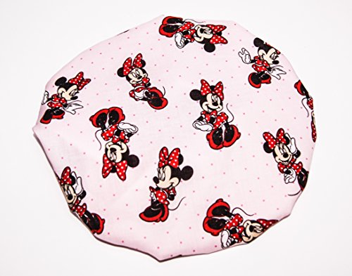 Price comparison product image HANDCRAFTED SILVER Reversible Kids and toddlers SATIN BONNETs are lined with DISNEY MINNIE MOUSE Fabric (MADE IN USA) (KIDS MINNIE MOUSE, SILVER)
