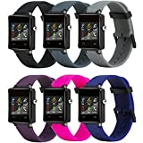 For Garmin Vivoactive bands Silicone Replacement Smart Wrist Watch Accessory Band Strap for Garmin Vivoactive, One Size (Garmin Vivoactive band of 6pack)