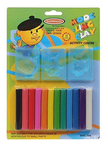 Bambalio BMC-006 Modelling Clay With 3 Moulds Pack Of 3