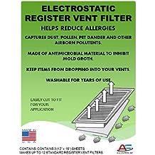 Washable Electrostatic Register Vent Air & Dust Filters