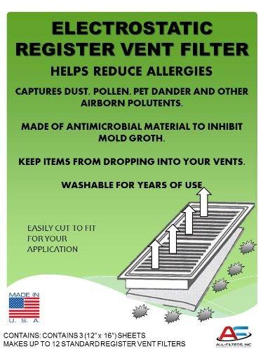 Washable Electrostatic Register Vent Air & Dust ()