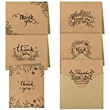TUPARKA 36 Pcs Thank You Note Cards Thank You Gifts Cards Greeting Cards with Envelopes for Thanksgiving Day Valentine's Day Birthday Party