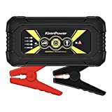 Keenpower 600A 12000mAh Portable Car Jump Starter, Emergency Battery Booster Pack with USB Charging Outputs, LED Flashlight (Black/Red/Yellow) (BLACK)